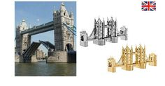 3D Metallic DIY Puzzle Stainless Gold Silver UK London Tower Bridge | eBay