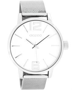 Ένα μοντέρνο ρολόι του οίκου Oozoo με μεταλλική κάσα και λευκό καντράν Fitflop, Metal Bracelets, Michael Kors Watch, Omega Watch, Style Inspiration, Watches, My Style, Gifts, Accessories