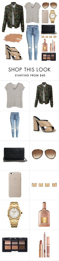 """Camo bomber"" by cyrenamonique ❤ liked on Polyvore featuring rag & bone, LE3NO, Gucci, Fendi, Maison Margiela, Audemars Piguet, Tom Ford, NARS Cosmetics, Dolce Vita and Jane Iredale"