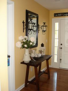 entryway decorating ideas | ... foyer. It was great at the time, but my decor has matured. , Patios