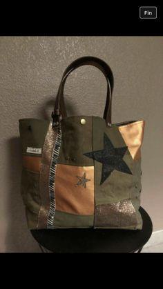Toujours du kaki avec du cuivre et l etoile pailleté sac unique ❤️
