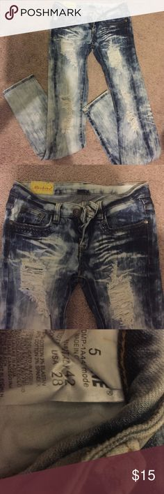 ripped pants ripped pants Pants Skinny