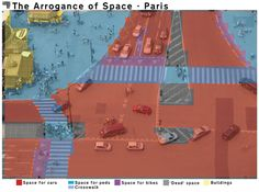 """""""A arrogância do espaço"""": A distribuição desigual do espaço público em relação aos pedestres, ciclistas e automóveis"""