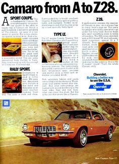 1973 Chevrolet Camaro Ad