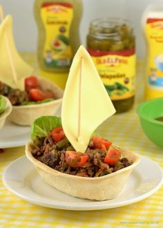 Delicious taco boats stuffed with lots of healthy veggies - quick and easy family meal idea from Eats Amazing UK - fun food for kids
