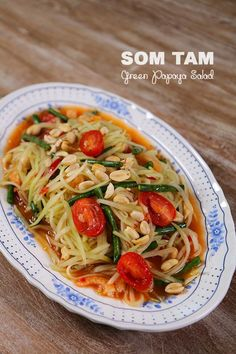 Hi guys! Recently I'm so so obsessed with this green papaya salad! (I just had for lunch yesterday and made it again for today's lunch! lol) It is so refreshing… – salad-recipes. Papaya Recipes, Thai Recipes, Asian Recipes, Cooking Recipes, Healthy Recipes, Asian Foods, Thai Cooking, Vietnamese Recipes, Asian Cooking