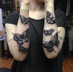 Tattoo art (arms) : butterflies