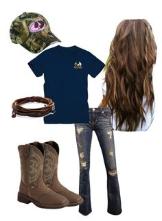 Designer Clothes, Shoes & Bags for Women Cute Cowgirl Outfits, Western Outfits, Western Wear, Cute Outfits, Farm Outfits, Country Style Outfits, Southern Outfits, Country Fashion, Redneck Clothes