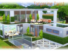 Nice orange themed home for your sim Found in TSR Category 'Sims 4 Residential Lots'