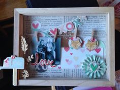 Love shadow box (Crate Paper & Freckled Fawn) by sj95014 at @Studio_Calico