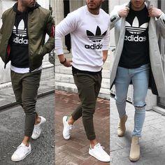 mentions J'aime, 78 commentaires – Men's Fashion ( … Sponsored Sponsored likes, 78 comments – Men's Fashion ( Mode Outfits, Casual Outfits, Fashion Outfits, Fashion Ideas, Mode Masculine, Stylish Men, Men Casual, Looks Adidas, Urban Fashion