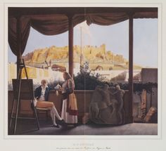 The Acropolis seen from the house of French conslu M. Fauvel, by Louis Dupré. Attica Greece, Athens Acropolis, As Time Goes By, Framed Prints, Canvas Prints, Southern Italy, Built Environment, Paris, Poster Size Prints