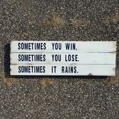 Sometimes You Win | Bull Durham | Wood Sign | Baseball Sign | Sports Decor | Motivational Quote | Inspirational | Boys Room by KraftmansShip on Etsy https://www.etsy.com/listing/490121809/sometimes-you-win-bull-durham-wood-sign