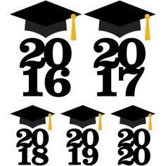 Silhouette Design Store: graduation cap with year