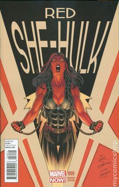 Red She-Hulk comic books Hulk Comic, Marvel Heroes, Marvel Avengers, Marvel Comics, Comic Art, Marvel Art, Marvel Dc Movies, Marvel Comic Character, Marvel Characters