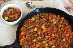 """Paleo Chili Recipe No beans, grain free via SuperGlueMom... I'll """"accidentally"""" forget the zucchini..."""
