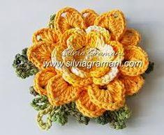 Resultado de imagem para flores de croche em barbante passo a passo