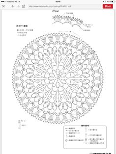 Trendy Ideas For Crochet Mandala Chart Patrones Crochet Doily Diagram, Crochet Mandala Pattern, Crochet Doily Patterns, Crochet Chart, Thread Crochet, Crochet Doilies, Crochet Flowers, Crochet Stitches, Crochet Round