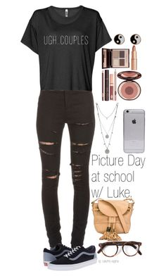 """Untitled #361"" by madelin-ruby ❤ liked on Polyvore featuring moda, Yves Saint Laurent, See by Chloé, Cutler and Gross, Vans, Vince Camuto, Charlotte Tilbury i Accessorize"