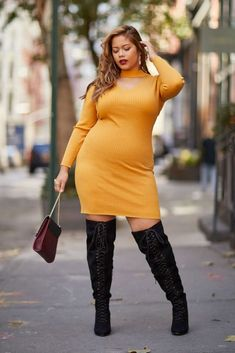 Fashion to Figure Plus size sweater dress