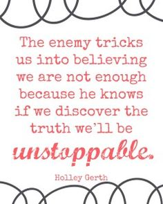 We are unstoppable! #freeprintable https://holleygerth.com
