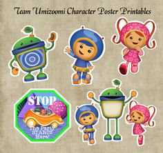 Team Umizoomi Character Posters & Door Sign Birthday Party Printables. $2.00, via Etsy.