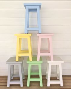 pastel cafe stools - LOVE