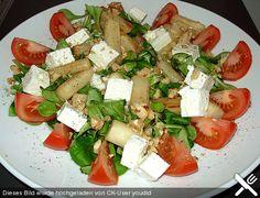 Feldsalat mit gebratenem Spargel