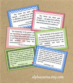 September 2014 LDS Visiting Teaching Message Quotes Handouts, Relief Society VT Instant Download Printable