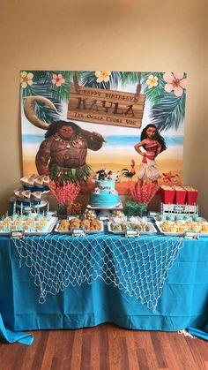 cathyscookiebar's Birthday / Moana - Photo Gallery at Catch My Party Hawaiian Birthday, Luau Birthday, 4th Birthday Parties, Birthday Party Decorations, Moana Party Decorations, Birthday Ideas, Cake Birthday, Moana Birthday Party Theme, Moana Themed Party