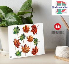 #hanpainted #watercolor  #patterdesign  #themapleleaf   .Dessirèe Pèrez copyrights . AVAILABLE on my #redbubbleshop: https://www.redbubble.com/people/dessireeartdeco/works/23789434-autumn-leaves-pattern