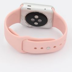 Apple Watch Sport Band Replacement 38mm/42mm New!!! SPORT 38mm/42mm/..S/M-M/l ...Pink Replacement . Please comment me the size. Soft silicone replacement band for 38mm/42mm Apple watch, smooth finish for a sporty look. (Only one band,watch is not included)(a13) Accessories Phone Cases Cute Apple Watch Bands, Apple Watch Colors, Gold Apple Watch, Most Accurate Fitness Tracker, Tech Toys, Sporty Look, Phone Accessories, Pink Ladies, Smooth