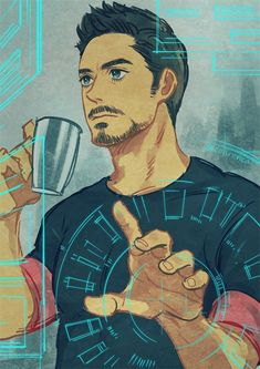 Tony by conronca on DeviantArt>>> I find this incredible and adorable and I'm pinning it. - Visit to grab an amazing super hero shirt now on sale!