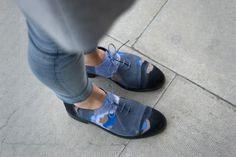 Barbora Vesela - blue ones Sock Shoes, Geo, Fashion Shoes, Socks, Create, My Style, Amazing, Fitness, Blue