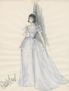 This princess gown was designed for Natalie Wood for Inside Daisy Clover, 1965.  Silver Screen Modiste: DESIGNED BY EDITH HEAD