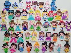 Disney characters collection perler beads by e_rika753