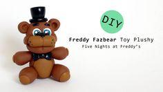 Freddy Fazbear Plushy from Five Nights at Freddy's Polymer Clay Tutorial