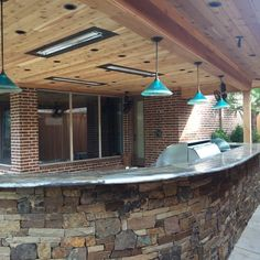 Outdoor Kitchen Bar Lights