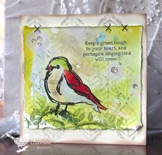 Green Bough Bird by Cook22 - Cards and Paper Crafts at Splitcoaststampers