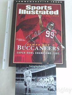 Jon Gruden Signed SB Champs Buccaneers Sports Illustrated Magazine