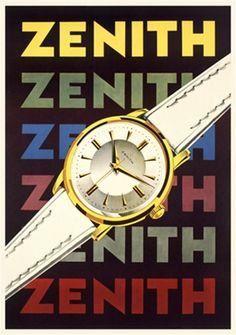 1959 poster for Zenith watches by Herbert Leupin. @Dezeen   via @wayneford