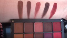 Inglot What A Spice Collection Eyeshadow swatches (from Anything But Marzipan on Youtube) L-R: 305, 304, 303, 302, 301