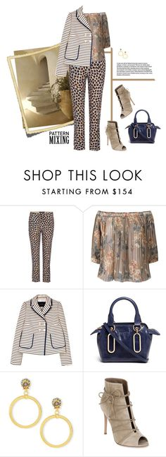 """""""Head-to-Toe Pattern Mixing"""" by lence-59 ❤ liked on Polyvore featuring Etro, DAY Birger et Mikkelsen, Tara Jarmon, See by Chloé, Jose & Maria Barrera and Gianvito Rossi"""