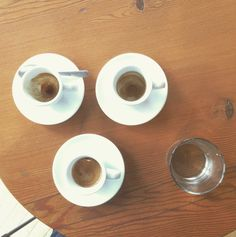 """Espresso flight at @milanoroasters on 8th!"" Image by ryanhoye"