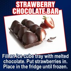Love chocolate covered strawberries this sounds like a cute and fun idea