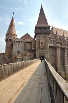 A medieval castle in Transylvania, Romania.