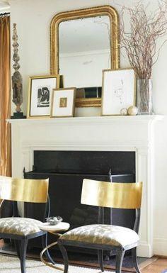 Bare Mantel Blues   Adore Your Place  #fireplace #mantel #decor