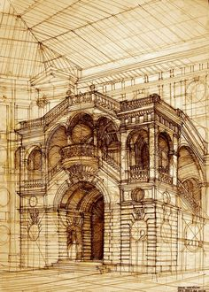 Architectural Paintings and Drawing - Sketches. Come and see more of Maja Wrońska's work. More information & more images from this Artist, Press the Image.