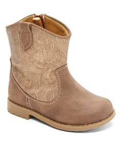 Look what I found on #zulily! Tan Smooth Mesa Floral Boot #zulilyfinds
