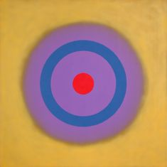 Noland's current exhibition at Yares Art, brings together prime examples of one of the artist's signature motifs: concentric rings of color centrally and symmetrically ordered in square canvases. Kenneth Noland, Abstract Art Images, Square Canvas, Colour Field, Artist At Work, American Art, Art Inspo, Art History, Street Art